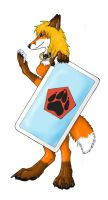 Vixen with card by Catwolf