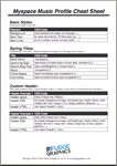 Myspace Music CSS Cheat Sheet by fudgegraphics