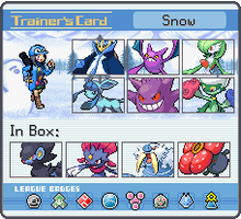 my trainer card xD by Snow263