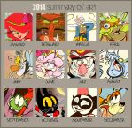2014 Art Summary by Themrock