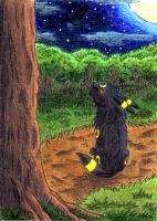 ACEO - Moonlight by o-Anubis-o