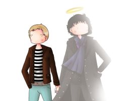 Sherlock and John holding hands by ice-cream-skies