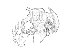 WIP sketching up an Adventure by revoincubus