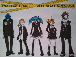 Vocaloid-Secret Police by chokkocakes