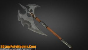 Axe #1 3D Low Poly | 3DLowPolyModels.Com by 3dlowpolymodels