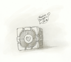 Companion Cube by KrimalFancey