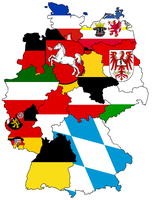 German States - Flag Map by HeerSander