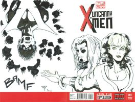 Uncanny X-men blank cover by guillomcool