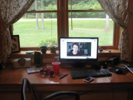 My very messy desk by The-Everlasting45
