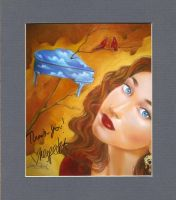 Regina Spektor-Signed Print by ColomoArt