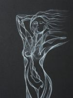 Sinuous Smoke - Pastels by 6re9