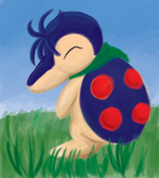 Redfield the cyndaquil by Celestial-Biohazard