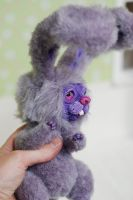 bunny in purples art doll by iasio