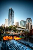 Seattle Over I5 by UrbanRural-Photo