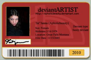 deviant id card by Aphoticbeauty