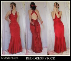 Red dress stock pack by 3corpses-in-A-casket