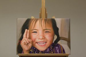 Tibet Child Oil Painting by Oil-Gallery