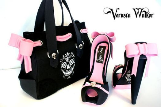 Skull Bag and Shoe by Verusca