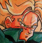 SSJ Future Trunks Post-It by vandonovan