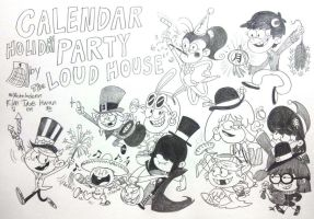 CALENDAR HOLIDAY PARTY!!!! by komi114