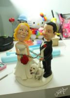 Wedding Cake Topper - almost done by natsy-alencar