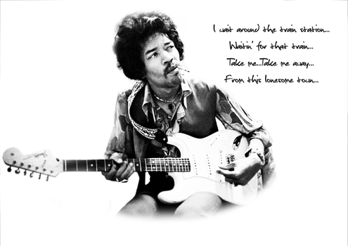 Jimi T-Shirt by MadHatterMuscaria