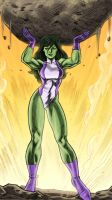She-Hulk rocks by dichiara