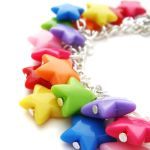 Rainbow Star Bracelet by fairy-cakes