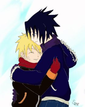 SasuNaru - Winter by CupuraPaAzarak