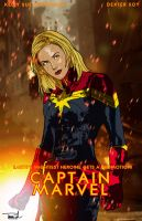 Captain Marvel by tsbranch