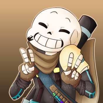 [Request] D2 Ink!Sans by BlurryNightSky