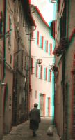 Narrow Alley 3-D conversion by MVRamsey