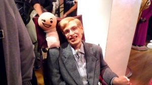UK. Kris and Stephen Hawking by Fafnisbani