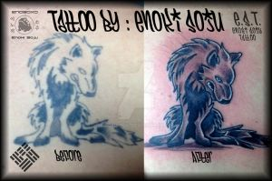 Before and After Tattoo By Enoki Soju by enokisoju