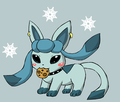 Glaceon by howlingathemoon