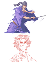 Samurai Champloo sketches by Fulcrumisthebomb
