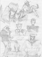 TFP Higschool sketches by YukiOni