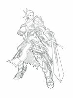 woman knight by MauGee13