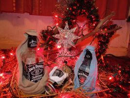 In the Christmas spirit with Jack Daniels! by 3nViixx