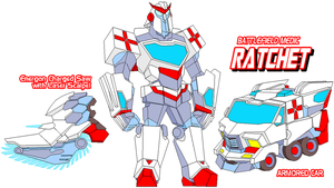 Autobot Ratchet by Tyrranux