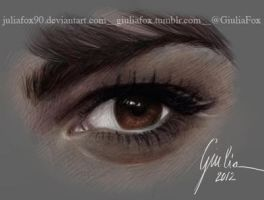 Lea Michele's Eye by JuliaFox90