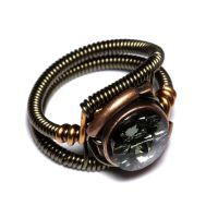 Steampunk Ring Black Diamond 2 by CatherinetteRings