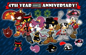 CCgonzo12's 4th DAnniversary by CCgonzo12