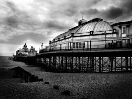 Eastbourne Pier bw by filmwaster