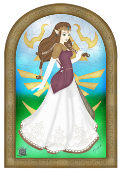 Princess Zelda Stained Glass by Blackmoonrose13