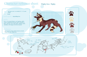 flighty foxx refrence sheet by reaper-neko