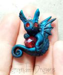 Pretty Little  Red Gem Dragon by carmendee