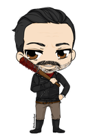 The Walking Dead - Negan by Mibu-no-ookami