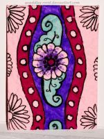 Purple Ribbon ATC 57 by Quaddles-Roost
