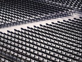Empty Stadium Chairs by KBeezie